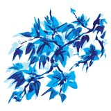 Chinese painting of flowers stock illustration