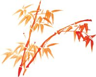 Chinese painting of flowers Stock Photo