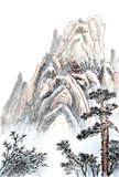 Chinese painting of high mountain Royalty Free Stock Images