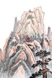 Chinese painting of high mountain Stock Images