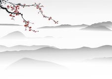 Chinese painting vector illustration