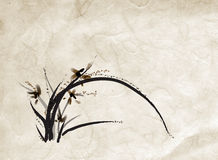 Chinese painting of  orchid Royalty Free Stock Images