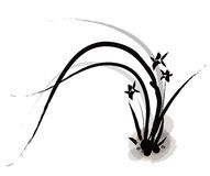 Chinese painting of orchid Royalty Free Stock Photography