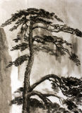 Chinese painting pine Royalty Free Stock Image