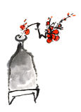 Chinese painting of plum blossom Royalty Free Stock Images