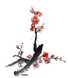 Chinese painting of plum blossom Stock Photo