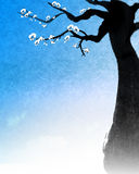 Chinese painting of tree Royalty Free Stock Image