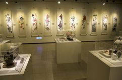 Chinese paintings in museum Royalty Free Stock Photo