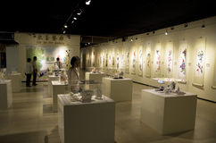 Chinese paintings in museum Royalty Free Stock Photos