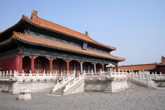 Chinese Palace. Named HuangJi,Part of the Forbidden City,Beijing,China Stock Images