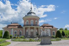 Chinese palace building located in the Zolochiv castle area Stock Image