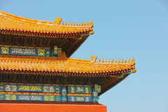 Chinese palace in forbidden city Stock Photography