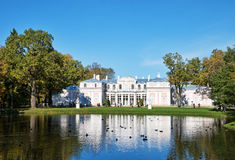 Chinese palace in Lomonosov in autumn Stock Images