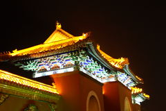 Chinese palace at night Royalty Free Stock Photography