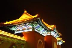 Chinese palace at night. Chiinese palace at night traditional pavilion Royalty Free Stock Photography