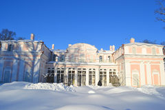 Chinese palace. Oranienbaum. Chinese palace on a sunny winter day, Oranienbaum, Russia Stock Photos