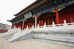 Chinese palace in temple royalty free stock photography