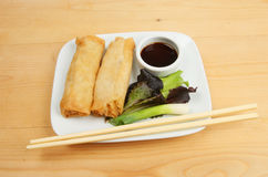 Chinese pancake rolls Royalty Free Stock Photography