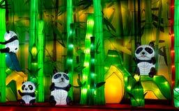 Chinese pandalantaarns Stock Foto