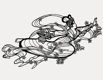 Chinese paper art fairy print Royalty Free Stock Image