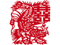 Chinese paper-cut Royalty Free Stock Images