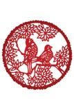 Chinese paper cut-bird Stock Photo