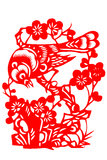 Chinese paper-cut bird Royalty Free Stock Images