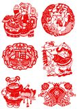 Chinese Paper-cut for Happiness. Vector of Traditional Chinese Paper-cut for Happiness Stock Photos