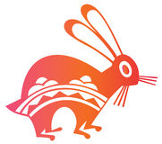 Chinese paper-cut of hare year Royalty Free Stock Photo