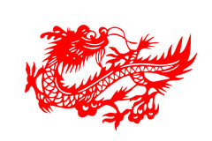 Chinese paper-cut loong Royalty Free Stock Photography