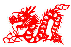 Chinese paper-cut loong Stock Photography
