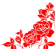 Chinese paper-cut of peony flower vector illustration