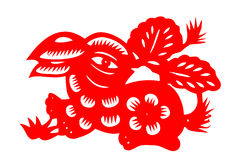 Chinese paper-cut rabbit Royalty Free Stock Image