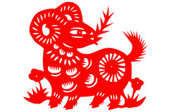 Free Chinese Paper-cut Sheep Royalty Free Stock Photo - 37098005