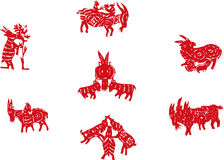 Chinese paper-cut sheep Stock Images