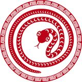 Chinese paper cut snake as symbol of year. 2013 stock illustration