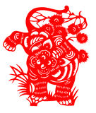 Chinese paper cut for tiger year of 2010. Paper-cut tiger for chinese new year (2010 is the tiger year). Paper-cut is a traditional art in China vector illustration