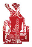 Chinese paper cut women Royalty Free Stock Photography