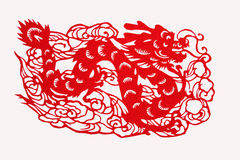 Chinese paper-cut works Stock Photography