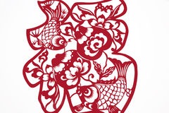 Chinese paper cutting-character FU Royalty Free Stock Photography