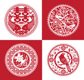 Chinese paper cutting Royalty Free Stock Image
