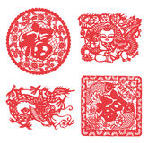 Chinese paper cutting Royalty Free Stock Photos