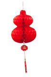 Chinese paper cutting motif chinese lantern. On white background Royalty Free Stock Photography