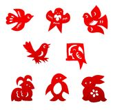 Chinese paper cutting set stock image