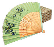 Chinese Paper Fan And Box Stock Photos