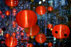 Chinese paper lantern. Photo of chinese paper lantern with shallow depth of field Stock Image