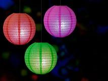 Chinese paper lanterns, festive background Stock Photo