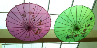 Chinese paper umbrella - Arts Umbrella Stock Photos