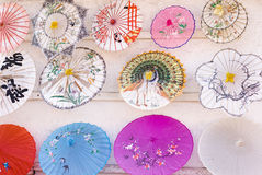 Chinese paper umbrellas Royalty Free Stock Photo