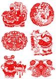 Chinese papier-Besnoeiing voor Geluk Stock Foto's